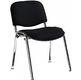 Swift Chrome Frame Conference Chairs (Pack of 4 Chairs) - Black