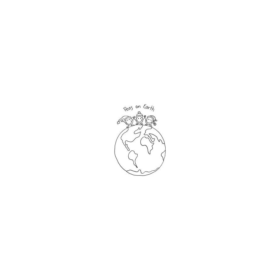 Penny Black Rubber Stamp 2.25X3 World Peas; 2 Items