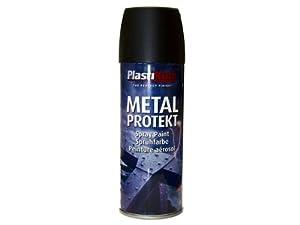 Plasti-kote 1284 400ml Metal Protekt - Matt Black
