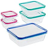 Snapware: 10 Piece Total Solution Pyrex Glass Food Keeper Set - Featuring Write N' Erase Lids