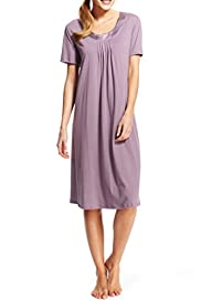 Per Una Satin Neckline Swing Nightdress [T37-6415-S]