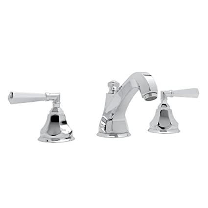 Rohl A1908LMAPC-2 Palladian Widespread Bathroom Sink Faucet with Metal Lever Handles, Chrome