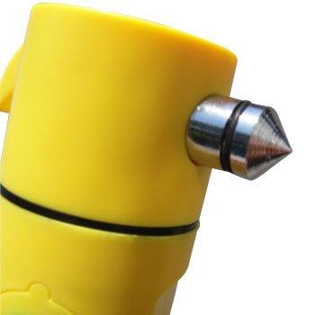 エマージェンシーハンマーライト5in1(ガラス破壊用ハンマー、シートベルトカッター、高輝度LEDライト)