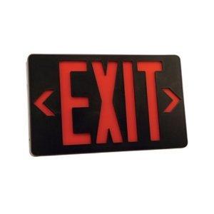 "Utilitech 11-3/4"" Utility Led Emergency Exit Light Lwspxeurb Black - Battery Backup System"