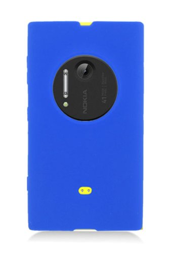 HHI Silicone Skin Case For Nokia Lumia 1020 - Blue (Package Include A HandHelditems Sketch Stylus Pen)