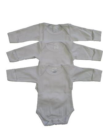 Jack & Jill Underwear Baby Onesie - 3 Pack - Long Sleeve (6-12 Months)