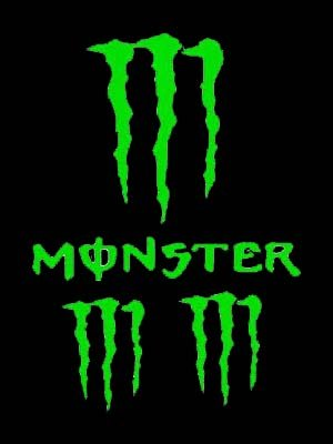 Set of 4- MONSTER ENERGY DRINK Vinyl Car/Truck Sticker/Decal By
