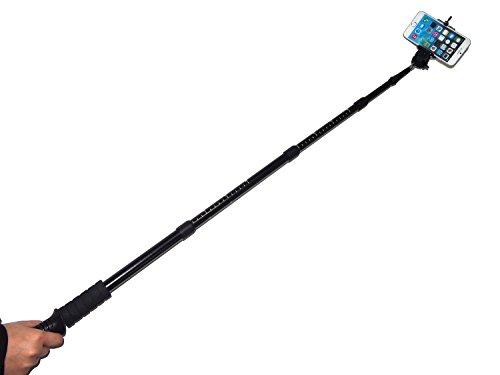 newomark dual use extendable aluminum hiking trekking pole stick selfie monopod with 1 4. Black Bedroom Furniture Sets. Home Design Ideas