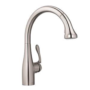 Hansgrohe 04066860 Allegro E Gourmet HighArc Kitchen Faucet, Steel Optik