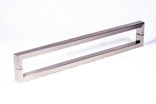 Modern & Contemporary Square/Rectangle Shape 400mm / 16 inches Push-Pull Stainless-Steel Door Handle for Entrance/Entry/Shower/Glass/Shop/Store, Interior/Exterior Barn & Gates Rectangular - Satin Brushed Finish (Entrance Door Handle compare prices)