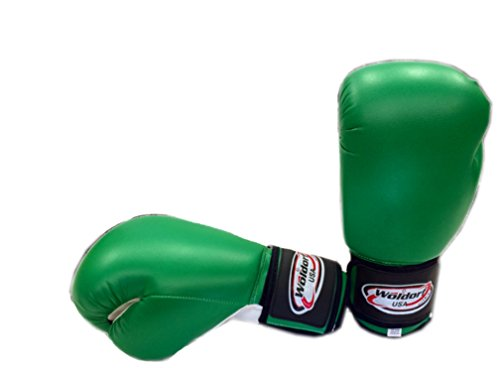 Boxing Bag Gloves in Vinyl, Green