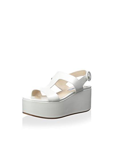 Prada Women's Wedge Sandal  [White]