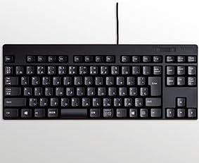 エレコム コンパクト有線キーボード テンキーレス 日本語92キー(ブラック) TK-FCM084BK