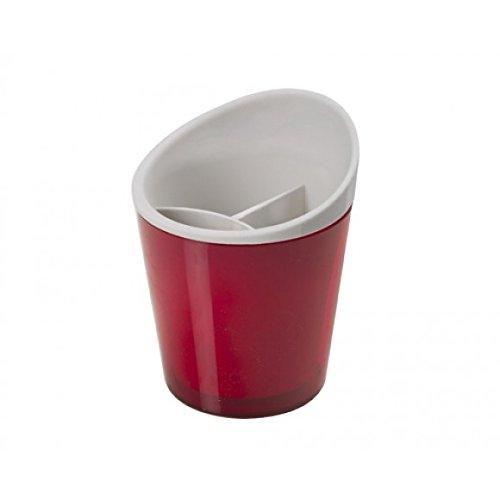 Montefioredesign - Scolaposate Con Interno Estraibile In Plastica Colore Rosso