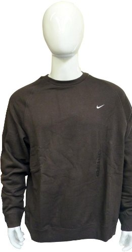 Mens Nike Crew Neck Sweatshirt Top Black Size Large Chest 42/44