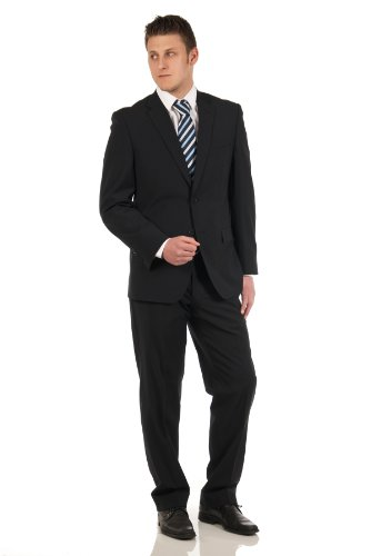 Men's suit in black, Brand: Aldo Colitti 27 (44 Short)