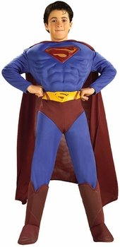 Deluxe Muscle Chest Superman Costume - Medium