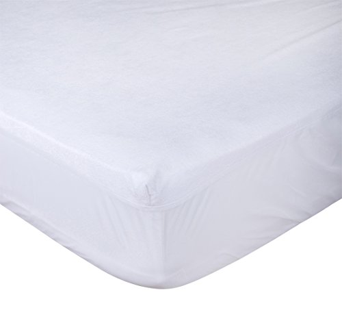 "Comfort Shield Terry Crib Mattress Protector with Spill Block ,28""x52"""