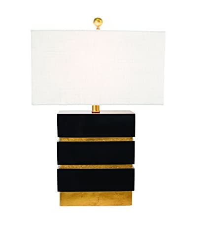 Couture San Simeon 1-Light Table Lamp, Gloss Black