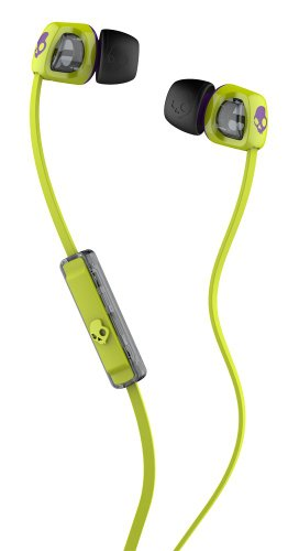 Skullcandy Smokin Buds 2 with Mic Earbuds (Hot Lime/Purple)