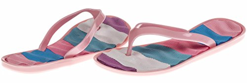 Chatties Girls Jelly Flip Flops - Light Pink, Size 1 / 2 (More Colors and Sizes Available) (Toddler Mossy Oak Flower Girl Dress)