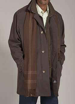 Buy Weatherproof Olive Brown 3-Quarter Length Raincoat