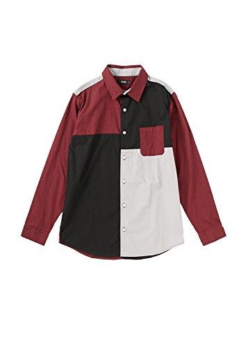 SPINNS ブロッキングシャツ A WINE M