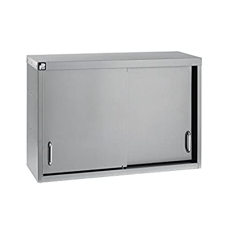 Parry Stainless Steel Sliding Door Wall Cupboard Size: 600(H) x 900(W) x 330(D)mm. Material: Stainless steel