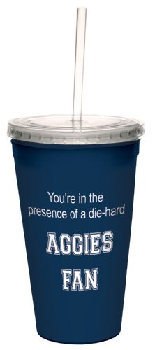 Tree-Free Greetings cc34593 Aggies College Football Fan Artful Traveler Double-Walled Cool Cup with Reusable Straw, 16-Ounce at Amazon.com