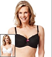 2 Pack Limited Collection Post Surgery Floral Embroidered Non-Padded B-F Bras