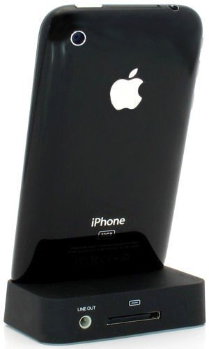 Black Charging Dock Cradle for Apple iPhone 4
