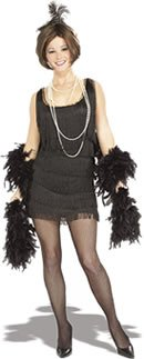 Chicago Flapper Fancy Dress Costume (adult size 14-16) - Black