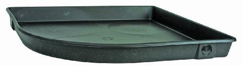 "Camco 11480 24""Id X 3""Deep Corner Plastic Drain Pan With Pvc Fitting"
