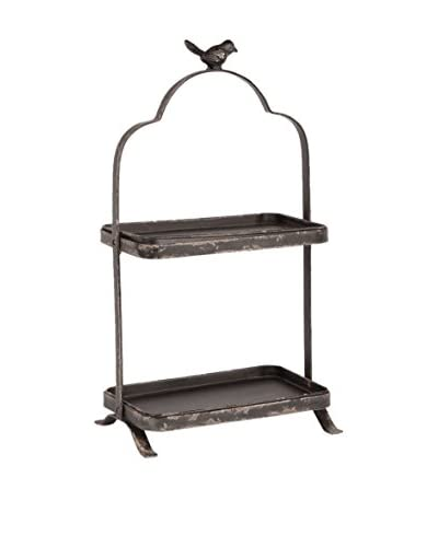 Napa Home & Garden 2-Tier Songbird Display Stand, Antique Black