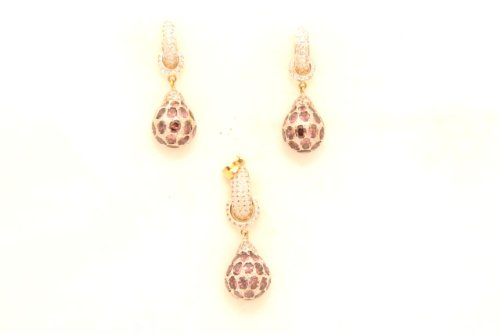 Fashion Balika Fashion Jewelry Gold-Plated Pendant Set For Women Multi-Colour-BFJER122 (Multicolor)
