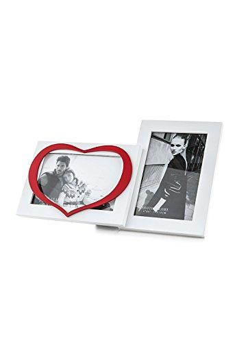 Tomasucci 1506 Heart Portafoto, 10x15 cm, Bianco