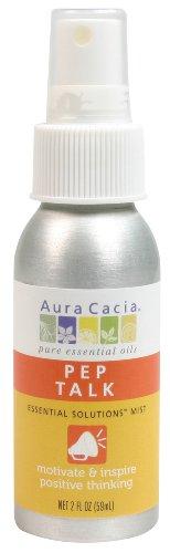 Aura Cacia Essential Solutions Mist, Pep Talk, 2 Fluid Ounce