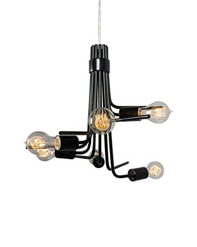 Varaluz Socket-to-Me 8-Light Chandelier, Black