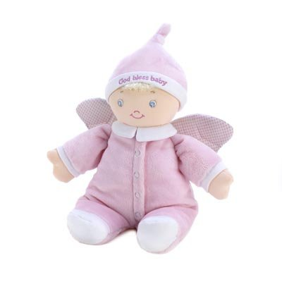 God Bless Angel Child Baby Safe Plush Stuffed Doll Toy front-434668