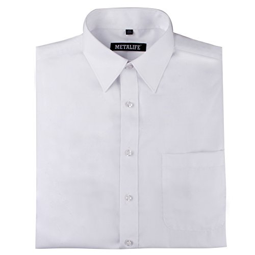 METALIFE Handcrafted Non-Iron Dress Shirts for Men (Big & Tall Available)