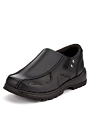 Scuff Resistant Leather Slip-On Shoes