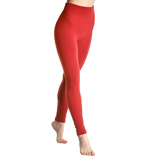 Angelina Plush-Lined Leggings, Red, One Size (Red Cult Jeans compare prices)