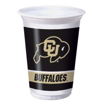 Creative Converting University of Colorado Buffaloes Printed 20 Oz. Plastic Cups (8 Count) - 1