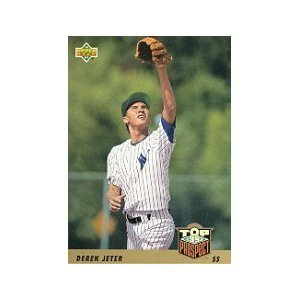 1993 Upper Deck # 449 Derek Jeter RC - New York Yankees Rookie Baseball Card In Protective Display Case