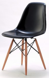 Charles & Ray Eames Style Style DSW Eiffel Dining Lounge Chair (Black) by Lavin Lifestyle