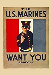 30 x 20 Stretched Canvas Poster The U.S. Marines Want You
