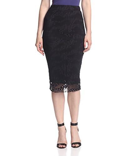 Twenty Tees Women's Perforated Current Midi Skirt