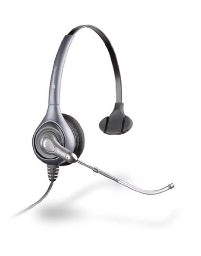 Plantronics HW351/A Monoraul Supraplus Corded Headset - Silver Black Friday & Cyber Monday 2014