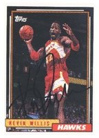Kevin Willis Atlanta Hawks 1993 Topps Autographed Hand Signed Trading Card - Nice... by Hall+of+Fame+Memorabilia