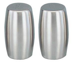 Stainless Steel Salt and Pepper Shaker Set. 2.75 Inches High.